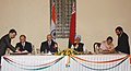 Aleksandr Lukashenko and the Prime Minister Dr. Manmohan Singh witnessing the signing of agreements between India and Belarus in the field of culture, arts, education, mass media and press for 2007-09, in New Delhi.jpg
