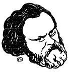 Феликс Валлоттон. Портрет Герцена, 1895