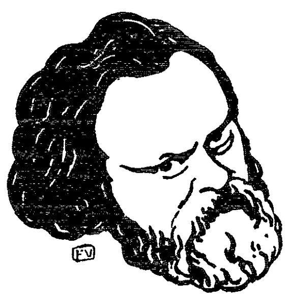 Russian political writer and founder of the Russian socialism Alexander Herzen (1812-1870), drawing of Félix Valloton (1865-1925).