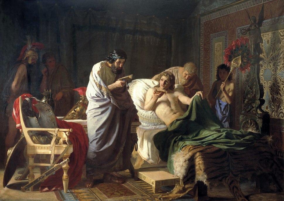 Alexander of macedon trust's the doctor Philip, Henryk Siemiradzki
