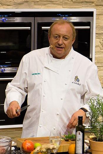 English: German Michelin star chef Alfons Schu...
