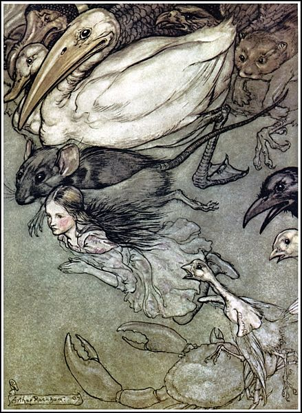 File:Alice in Wonderland by Arthur Rackham - 02 - The Pool of Tears.jpg