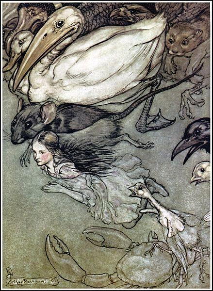 File:Alice in Wonderland by Arthur Rackham - 02 - The Pool of Tears.jpg