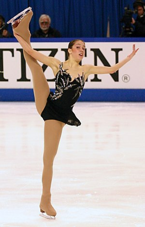 Briefs - A figure skater wears a costume with attached briefs under the skirt