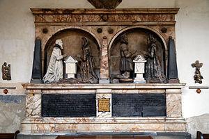 Ferdinando Richardson - Ferdinando Heyborne monument (right), at All Hallows Church, Tottenham