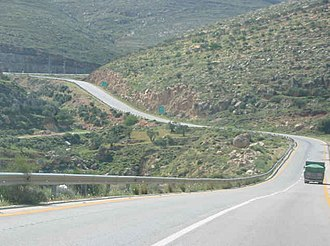Allon Road - Allon Road near intersection of Routes 508 and 458, south of Migdalim