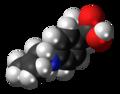 Alminoprofen molecule spacefill.png