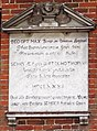 Almshouses - Fox's Hospital - Farley, Wiltshire, England - plaque.jpg