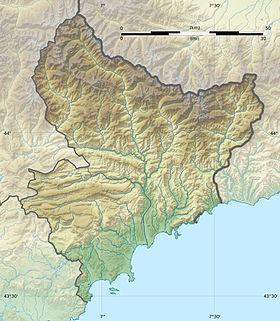 Voir sur la carte topographique des Alpes-Maritimes
