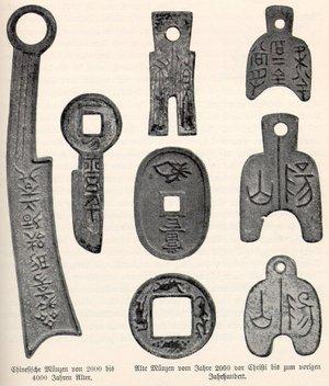 Kinesiska bronsmynt.