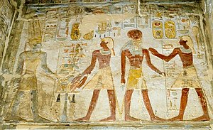 Amada - Relief of Thutmose III before the gods at Amada