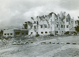 1949 Ambato earthquake - A hospital ruined by the earthquake in Ambato; almost 75 percent of the city's remaining buildings had to be demolished.