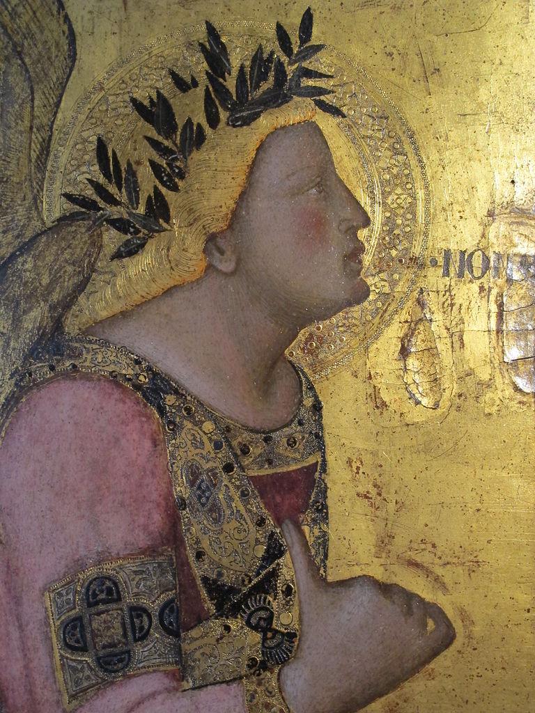 Ambrogio Lorenzetti, Annunciazione, (particolare di Maria), 1344, Pinacoteca Nazionale, Siena