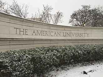 American University - The front gate at American University