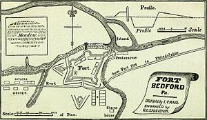 Fort Bedford - Sketch of Fort Bedford.