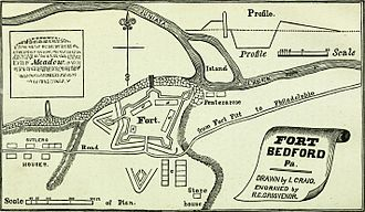 Fort Bedford - Sketch of Fort Bedford.