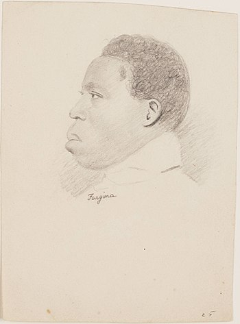 Sketch of an Amistad prisoner, drawn as they a...
