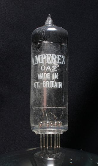 Amperex Electronic - A voltage regulator vacuum tube made by Amperex