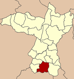 Amphoe location in کھون کیئن صوبہ