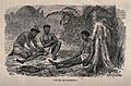An African(?) medicine man cupping and bleeding two patients Wellcome V0015957.jpg