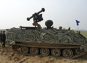 153 SP Air Defence Regiment - An RBS-70 Surface to Air Missile Mounted APC of 153rd SP AirDefence Regiment on high alert during IndoPak Esclation 2008
