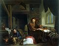 An alchemist making gold. Oil painting by Hendrik Heerschop, Wellcome L0015579.jpg