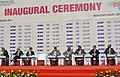 Anant Geete and the Union Minister for Road Transport & Highways and Shipping, Shri Nitin Gadkari at the inauguration of the Auto Expo 2016, at Greater Noida, UP on February 04, 2016.jpg