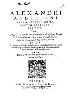 Alexander Anderson (mathematician) Scottish mathematician