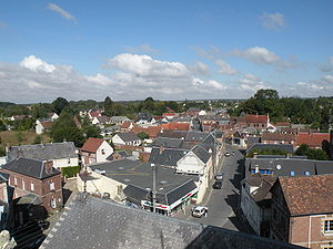 Andeville - View from the roof of the village church