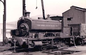 Andrew Barclay Sons & Co. - Image: Andrew Barclay Steel Co of Wales No 206 in 1951