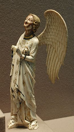 A Gothic angel in ivory, c1250, Louvre