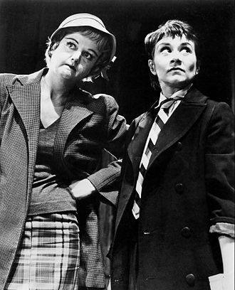 Joan Plowright - Plowright as Jo with Angela Lansbury as Helen in the Broadway production of A Taste of Honey