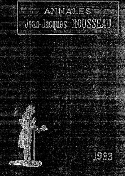 File:Annales de la société Jean-Jacques Rousseau, tome 22.djvu