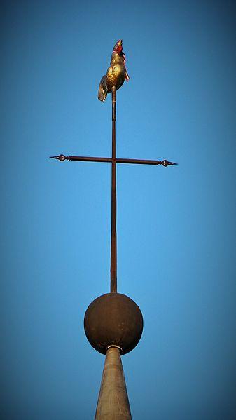 Croix et coq de l'église Saint Jean-Baptiste, Annoux