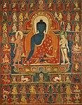 Anonymous - Painted Banner (Thangka) with the Medicine Buddha (Bhaishajyaguru) - 1996.29 - Art Institute of Chicago.jpg