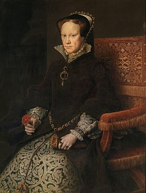 Anthonis Mor - Queen Mary Tudor of England - W...