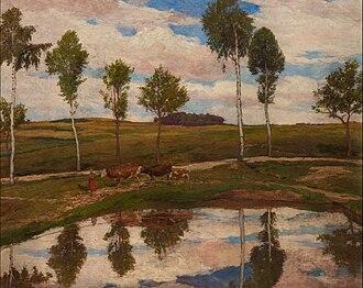Kameničky - The painting In our Kameničky by Antonín Slavíček brought fame to this village in 1904.