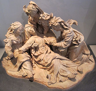 Swoon of the Virgin - Terracotta modello, Antonio Begarelli, c. 1530