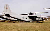 Antonov An-8 Camp 10 Green Soviet AF Monino 29.08.94.jpg