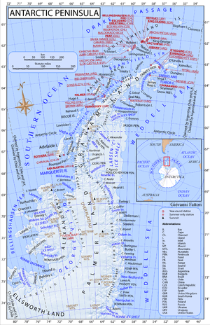 Antarctic Peninsula - Antarctic Peninsula map.