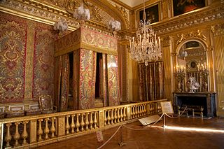 rooms in the palace of Versailles, France