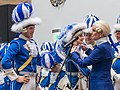 Appell Kölner Funken Artillerie blau weiß von 1870 im Kölner Rathaus - Weiberfastnacht 2019-5825.jpg
