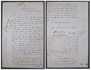 Hagley Oval - Application for the Cricket Pitch at Hagley Park, Christchurch, 1855