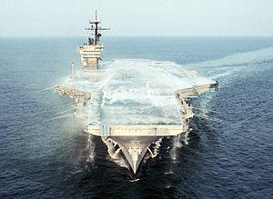 Aqueous film-forming foam system test on USS JF Kennedy (CV-67) 1987.JPEG