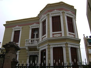 Mytilene - Old mansion, one of the many in the town
