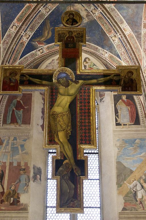Painted crucifix by the Master of Saint Francis (Arezzo)