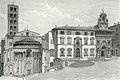 Arezzo Piazza Vasari con la parte posteriore della Pieve.jpg