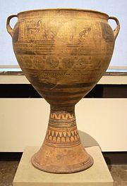 Argivian late-geometric krater at the Antikensammlung Berlin 1.jpg