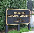 Arlington National Cemetery Visitors Center - sign - 2011.JPG