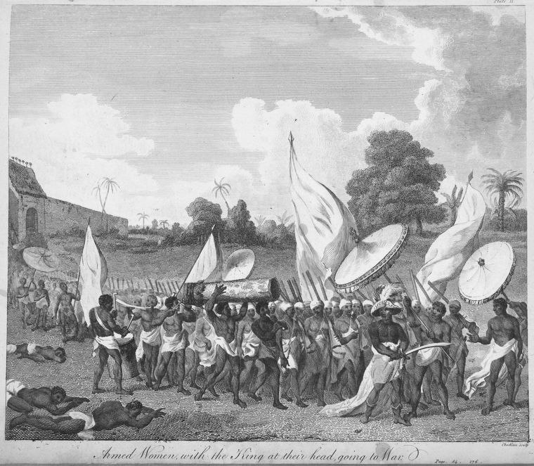 Armed women with the King at their head, going to war-1793